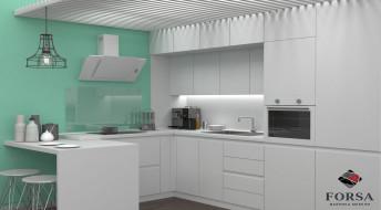 Кухонный гарнитур Лидер «Белый»