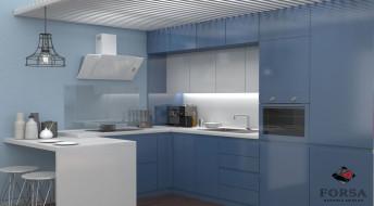 Кухонный гарнитур Лидер «Синий»