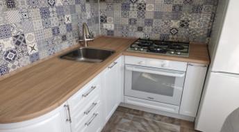 Эмаль кухня белого цвета